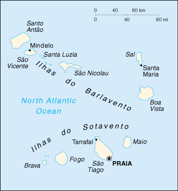 Of Cape Verde - Cape verde map