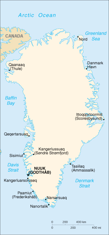 Of Greenland - Greenland map