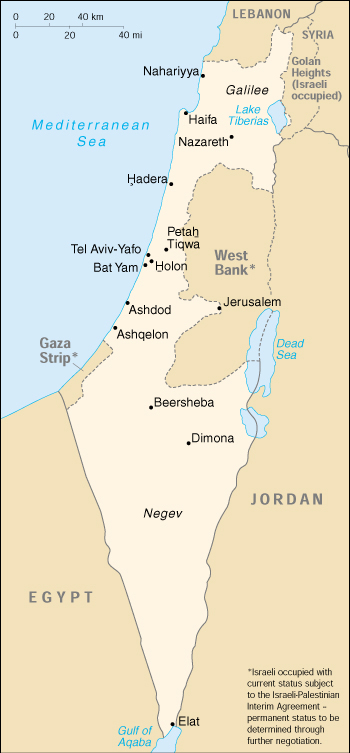 Of Israel - Isreal map