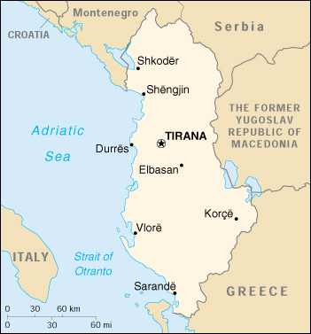 Map of albania publicscrutiny Choice Image