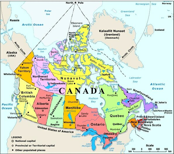 Map Of Canada Quebec Montreal.Map Of Canada