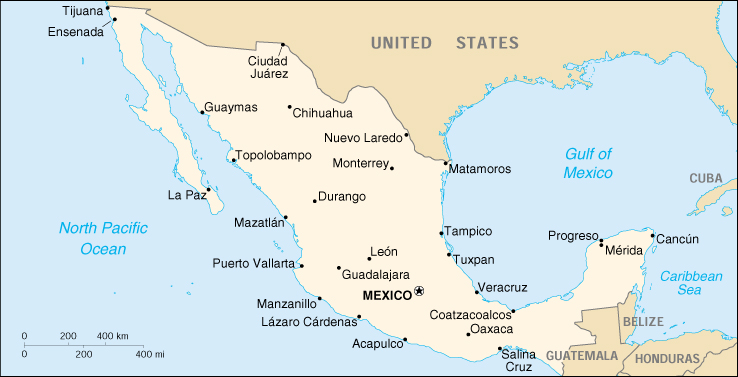 Of Mexico - Maps mexico