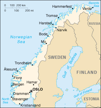 Of Norway - Norway michigan map