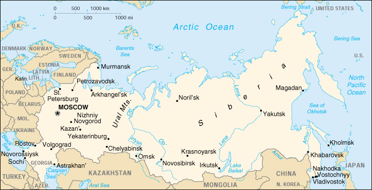 Of Russia - Russia administrative map