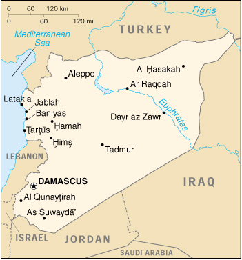 Of Syria - Map of syria
